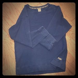 PINK Victoria's Secret Ribbed Sweater L Dusty Blue